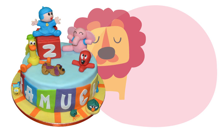 Pastís d'aniversari per xiquets