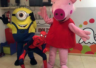 Aniversari amb els minion, spiderman o pepa